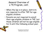 general overview of a tk program cont