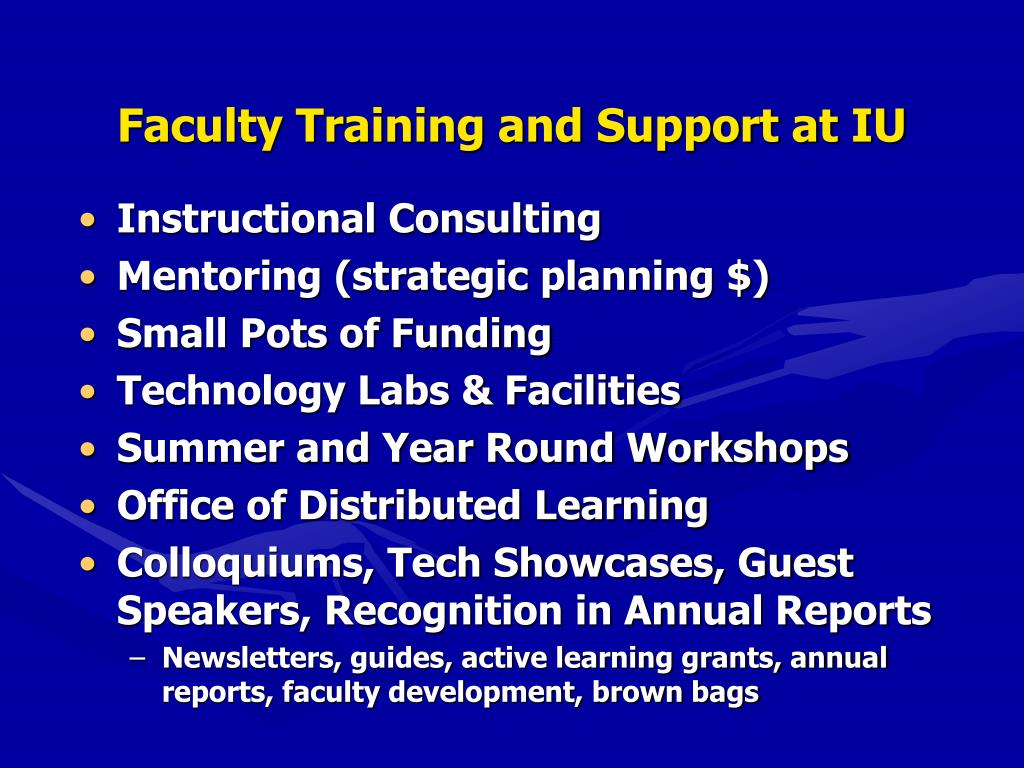 Faculty Training and Support at IU