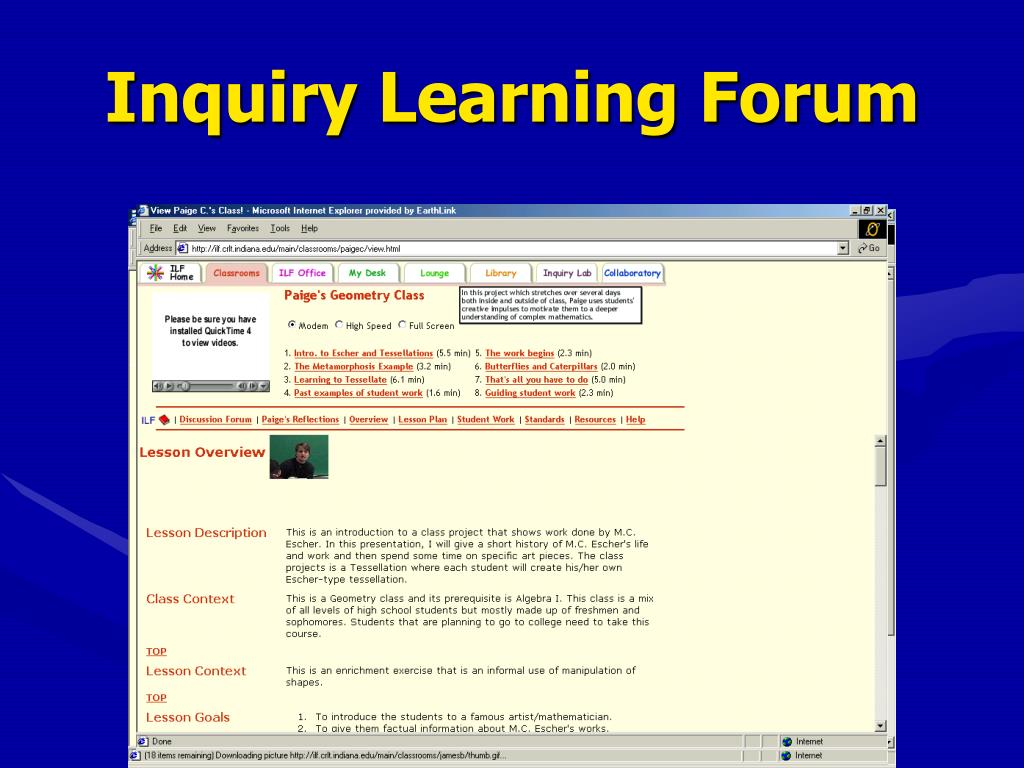 Inquiry Learning Forum