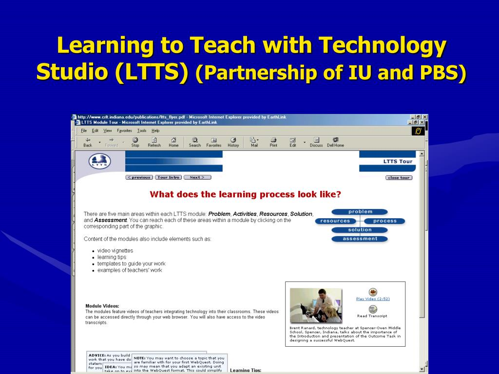 Learning to Teach with Technology Studio (LTTS)