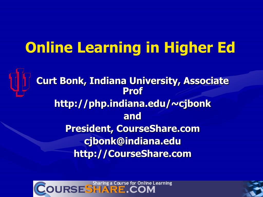 online learning in higher ed l.