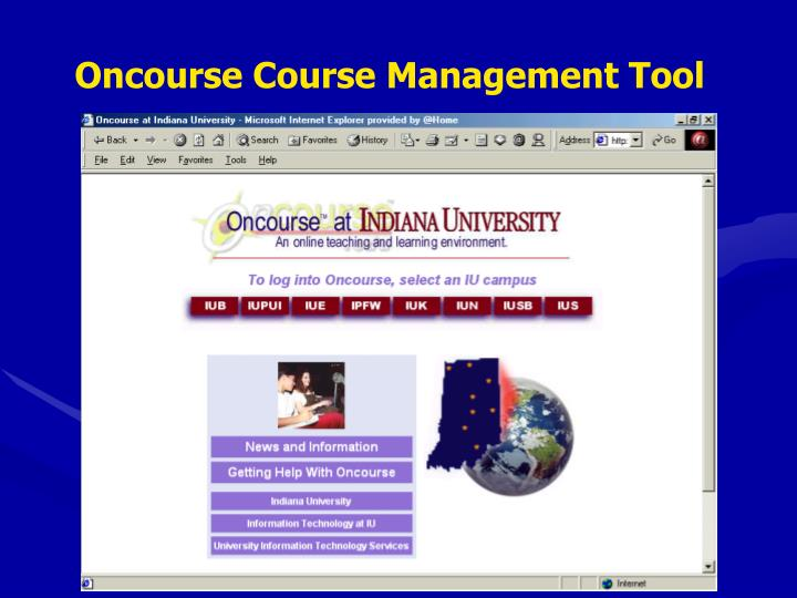 Oncourse Course Management Tool