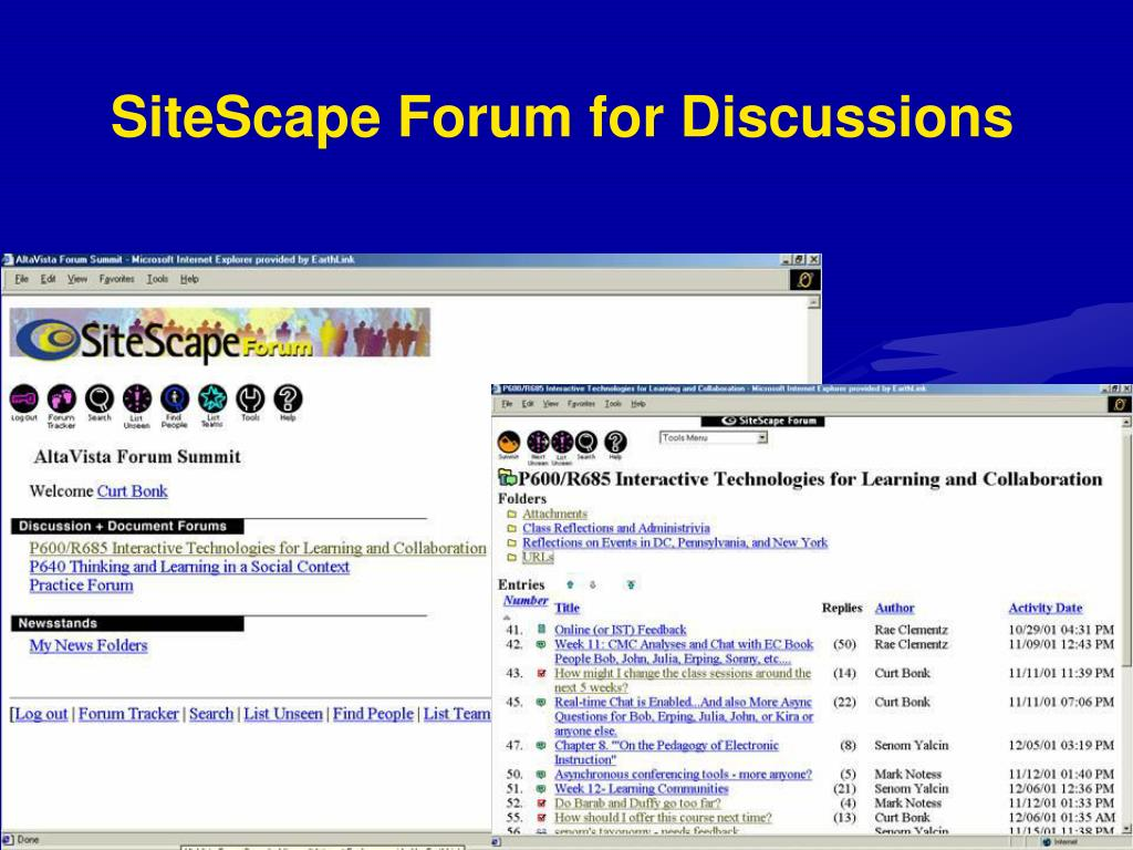 SiteScape Forum for Discussions