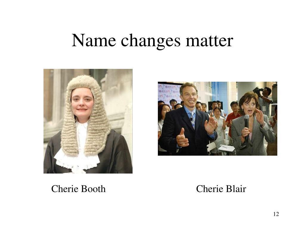 Name changes matter