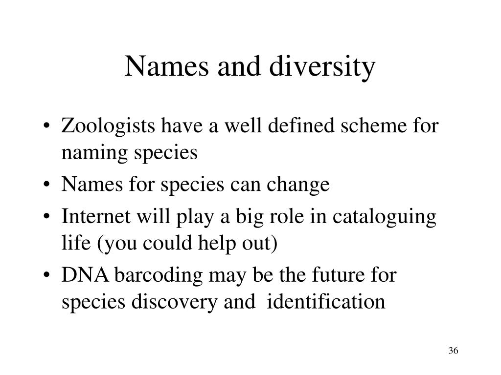 Names and diversity