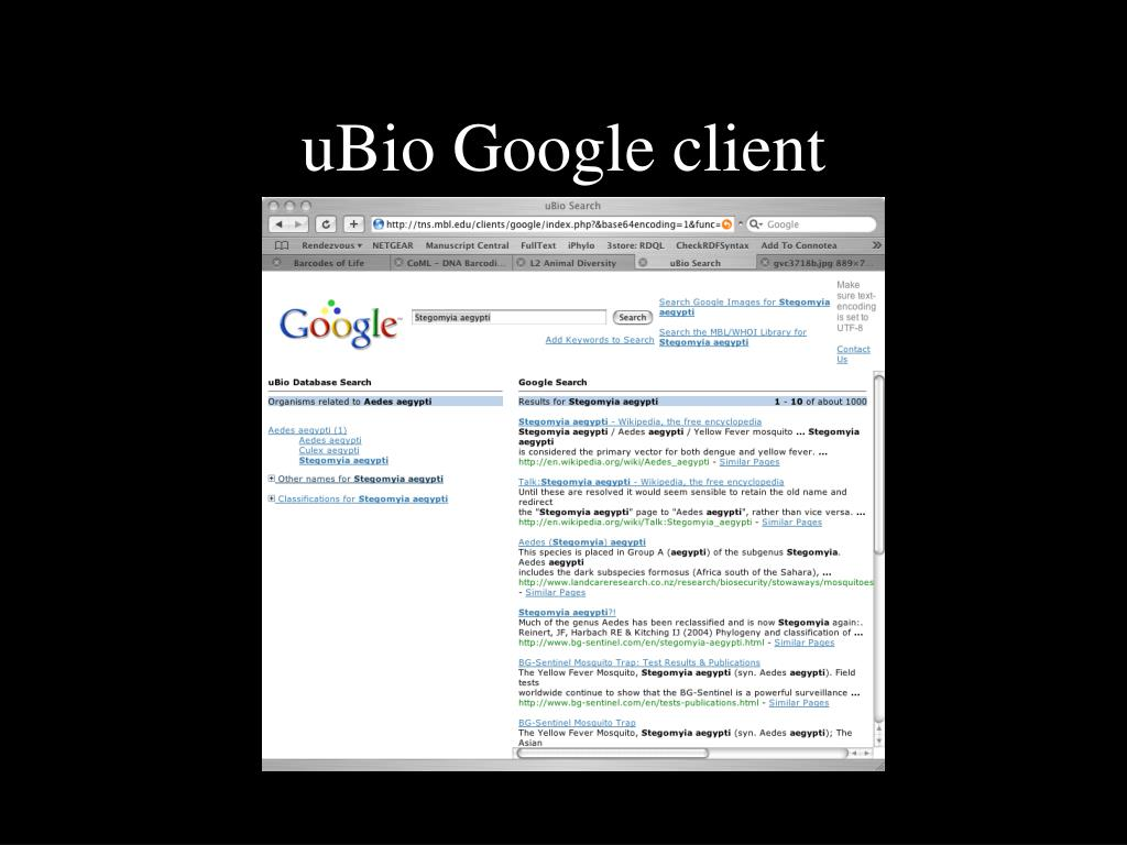 uBio Google client