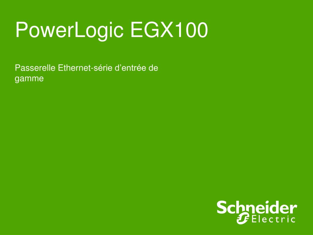 powerlogic egx100 l.