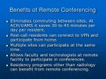 benefits of remote conferencing