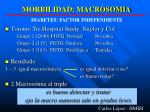 morbilidad macrosomia