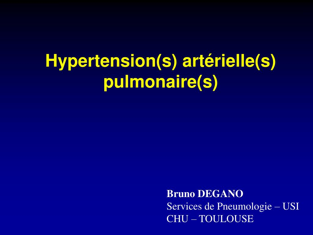 hypertension s art rielle s pulmonaire s l.