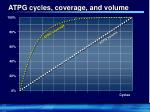 atpg cycles coverage and volume