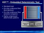 edt embedded deterministic test