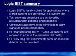 logic bist summary