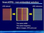 scan atpg non embedded solution
