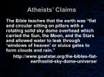 atheists claims