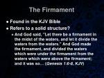 the firmament