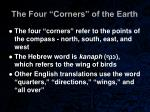 the four corners of the earth31