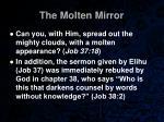 the molten mirror36