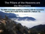 the pillars of the heavens are the mountains