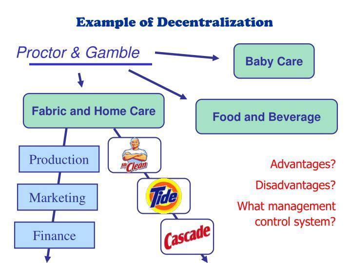 Example of Decentralization