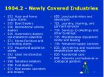 1904 2 newly covered industries