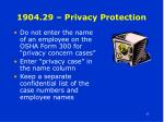 1904 29 privacy protection
