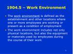 1904 5 work environment