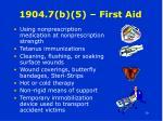 1904 7 b 5 first aid