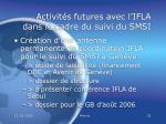 activit s futures avec l ifla dans le cadre du suivi du smsi31