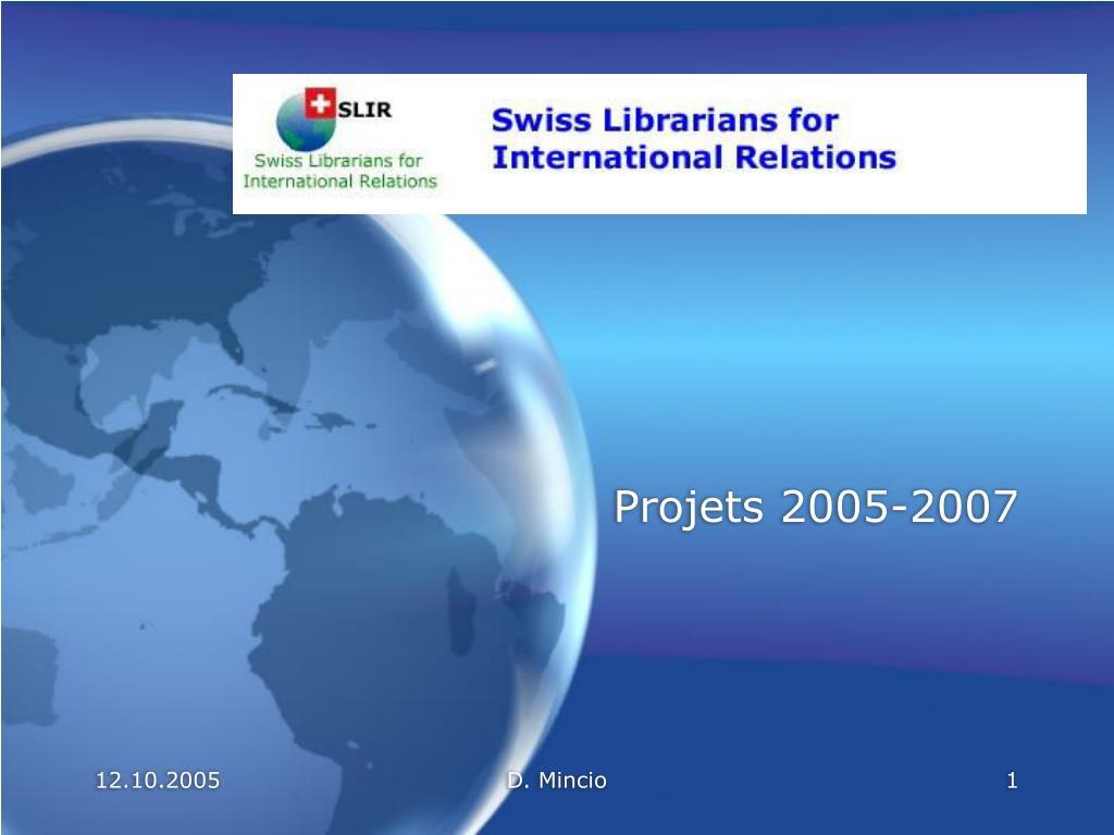 projets 2005 2007 l.