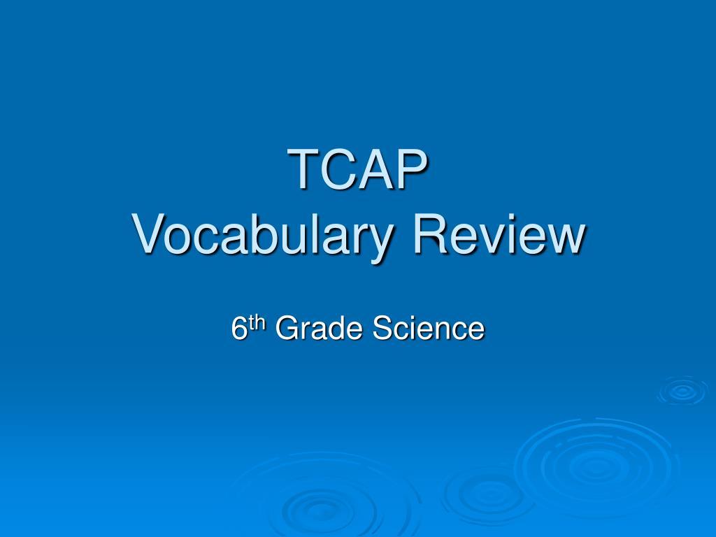 tcap vocabulary review l.