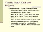 a guide to ira charitable rollovers11