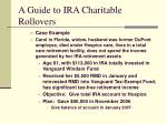 a guide to ira charitable rollovers13