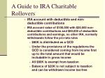 a guide to ira charitable rollovers14
