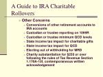 a guide to ira charitable rollovers15