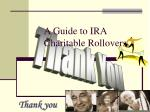 a guide to ira charitable rollovers16