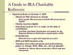 a guide to ira charitable rollovers3