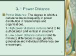 3 1 power distance