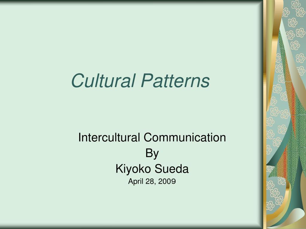 cultural patterns l.