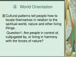 world orientation
