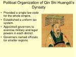 political organization of qin shi huangdi s dynasty