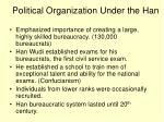 political organization under the han