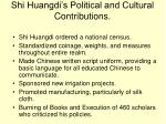 shi huangdi s political and cultural contributions