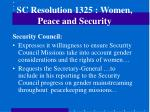 sc resolution 1325 women peace and security
