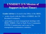 unmiset un mission of support in east timor