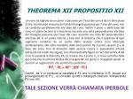 theorema xii propositio xii