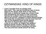 ozymandias king of kings