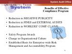 benefits of effective compliance program