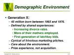 demographic environment18