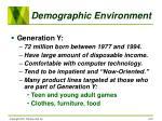 demographic environment19